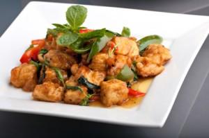 Grillitud tofu juurviljadega