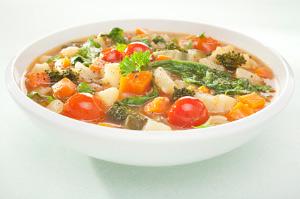 Köögiviljapüreesupp tofuga