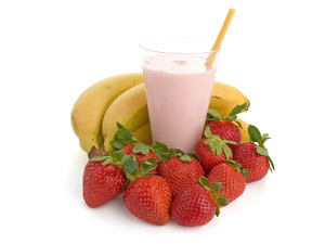 Banaani maasika smoothie